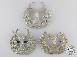 Three First & Second War British Gordon Highlanders Glengarry Badges