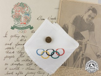 A 1936 Berlin Summer Olympic Games Canadian Cycling Team Member Lionel M. Coleman Group