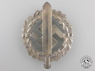 A Silver Grade SA Sport Badge by W.Redo