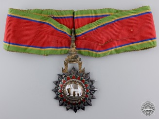 Thailand, Kingdom. An Order of the White Elephant; Commander, c.1950