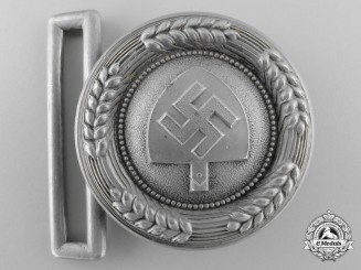 An RAD (Reichsarbeitsdienst) Officer's Belt Buckle by F.W. Assmann & Söhne; Published