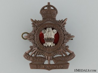 Inter-War Royal Regiment of Canada Cap Badge