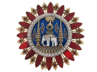 Thailand, The Most Exalted Order of the White Elephant, Breast Star First Class