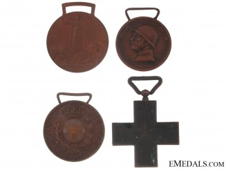 Four First War Italian Medals