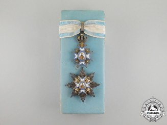 A Cased Serbian Order of St. Sava, 2nd Class by G. A. Scheid