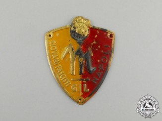 An Italian GIL (Gioventu Italiana del Littorio) Fascist Youth Naples (Napoli) Sleeve Badge