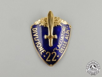 "An Italian 22nd Infantry Division ""Alpe Hunters"" ) Sleeve Shield"