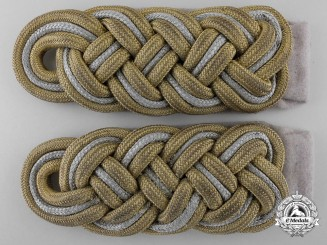 Germany, Waffen-SS. A Pair of SS-Brigadeführer Shoulder Boards