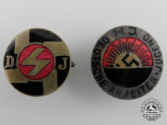 Deutsche Jungvolk and Hitlerjugend Membership Badges