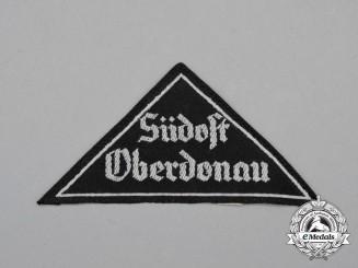 "A Mint and Unissued HJ ""Südost Oberdonau"" District Sleeve Insignia; RZM Tagged"