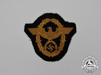 A Third Reich Period Wasserschutzpolizei Civil Police Sleeve Eagle; Uniform Removed