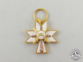 A Miniature Croatian Order of King Zvonimir's Crown