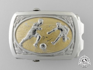 A Second War Period German Football (Soccer) Association Belt Buckle