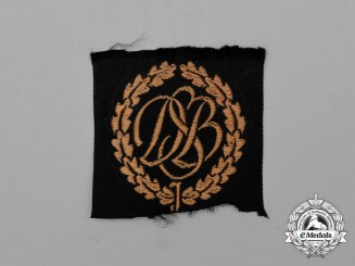 An Unissued Third Reich Period DSB Marksmanship Badge; Cloth Version