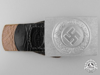 A Standard Pattern German Police Enlisted Man's Belt Buckle by Christian Theodor Dicke
