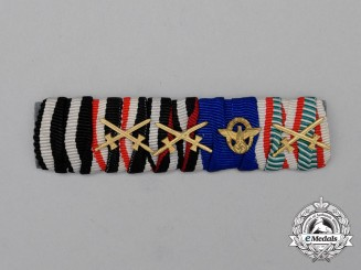 A First and Second War German Police Long Service Medal Ribbon Bar Grouping