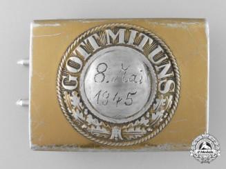A Kreigsmarine Enlisted Man's Belt Buckle; End of War Dated 1945 by Richard Simm & Sohne