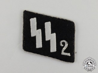"Germany. A Single Waffen-SS Standarte 2 ""Germania"" Collar Tab"