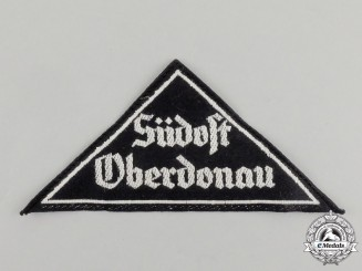 "A Mint and Unissued HJ ""Südost Oberdonau"" District Sleeve Insignia; RZM Tagged"