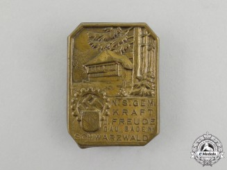 A Third Reich Period KDF Black Forest Celebration Badge