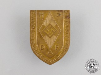 A 1934 HJ/DAF Joint Reichs Occupational Skills Competition Badge