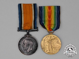 United Kingdom. A Medal Pair to II Class Air Mechanic C.S. Headley; Royal Air Force