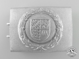 A Wiemar Republic Bavarian Fire Defence Enlisted Man's Belt Buckle