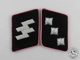 A Mint Pair of Waffen-SS Panzer Untersturmführer Rank Collar Tabs