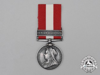 A Canada General Service Medal, to Private Edward Copeland, Brockville & Ottawa Garrison Artillery (Grand Trunk Brigade)