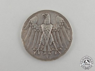 A German Silver Life Saving Medal by the Official Berlin Mint