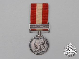 A Canada General Service Medal, to Private Benjamin B. Moore, Durham Infantry Company (31st Grey Battalion)