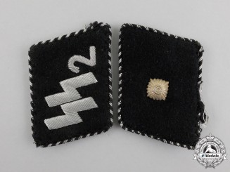 A Waffen-SS Standarte Germania Unterscharführer Rank Shoulder Boards
