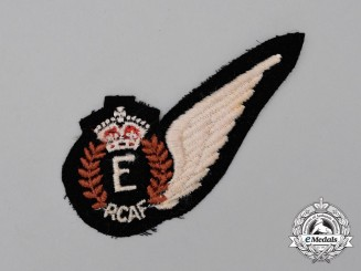 A Second War Royal Canadian Air Force (RCAF) Engineer (E) Wing