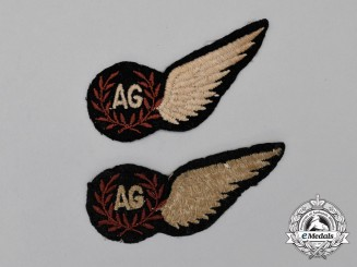 Two Second War Royal Air Force (RAF) Air Gunner (AG) Wings