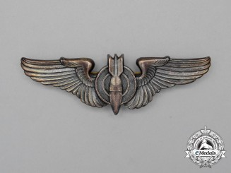A United States Army Air Force (USAAF) Bombardier Badge 1947