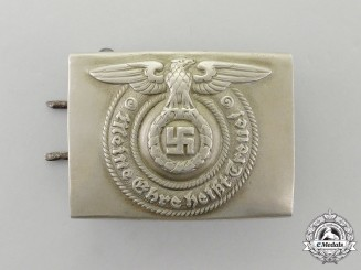 A SS EM/NCO's Standard Issue Belt Buckle by Overhoff & Cie of Lüdenscheid