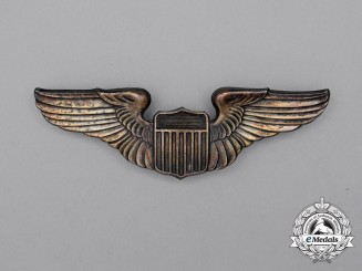 A United States Army Air Force (USAAF) Pilot Badge, 1930 Issue