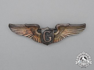 A United States Army Air Force (USAAF) Glider Pilot Badge 1944