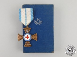 A Mint German Bavarian Red Cross Decoration for 25 Years of Services
