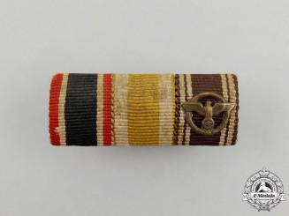 A Second War German NSDAP Long Service Medal Ribbon Bar