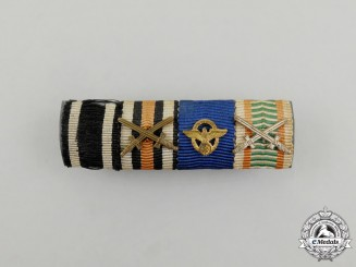 A First and Second War Austrian Police Long Service Medal Ribbon Bar