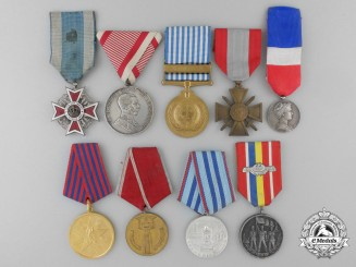Nine European Awards, Decorations, and Medals