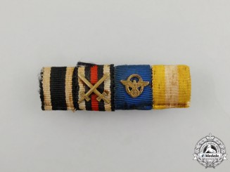 A First and Second War German Police Long Service Medal Ribbon Bar