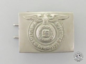 A Second War German SS EM/NCO's Standard Issue Belt Buckle by Overhoff  Cie