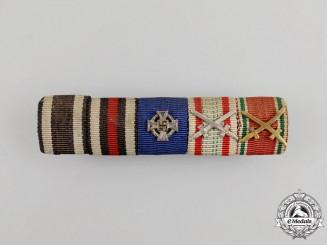 A First & Second War Austrian Faithful Service Medal Ribbon Bar