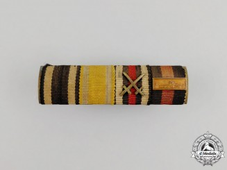 A First and Second War Saxon Bravery Ribbon Bar