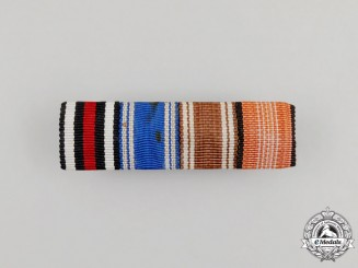 A First and Second War German NSDAP Long Service Medal Ribbon Bar