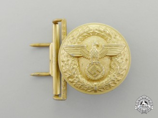 A NSDAP Political Leader's Brocade Dress Belt Buckle by Camil & Bergmann