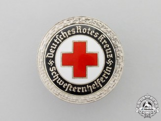 A Third Reich Period German DRK (German Red Cross) Nurse's Assistant Brooch