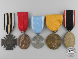 Five First War German Medals and Awards